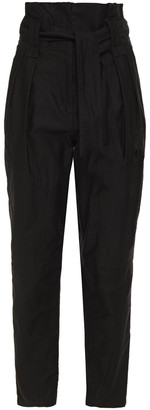 IRO Belted Cotton-twill Tapered Pants