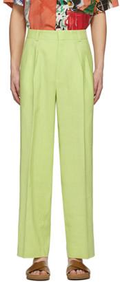 Jacquemus Green Le Pantalon De Costume Trousers