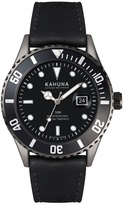 Kahuna Watch With Black Dial, Black Bezel And Black Strap