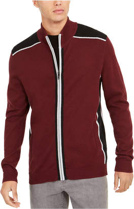Alfani Men Classic-Fit Colorblocked Full-Zip Cardigan