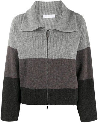 Fabiana Filippi Colour-Block Zipped Cardigan