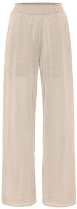 Loro Piana Mouli silk and linen knit pants
