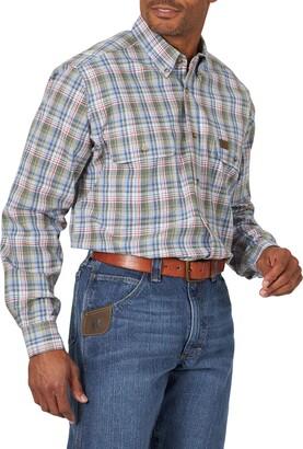 Riggs Workwear Men's Big & Tall Long Sleeve Foreman Plaid Workshirt