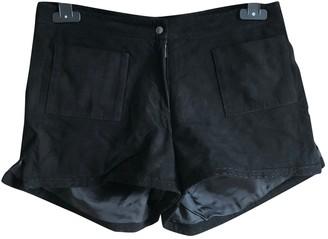 Tamara Mellon Black Suede Shorts for Women