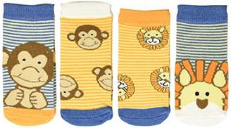 Leone FlapJackKids Baby Calzini E Scimmia Casual Socks,One (Size: Small) (Pack of 4)