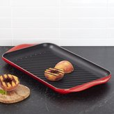 Crate & Barrel Le Creuset ® Cerise Red Double Burner Grill
