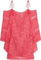 Eberjey Guajira Esmeralda Crocheted Cotton Mini Dress - Bubblegum