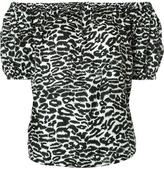 Piamita off-shoulders leopard print blouse
