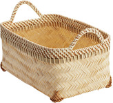 Container Store Small Woven Bamboo Basket
