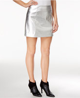 GUESS Zola Metallic Faux-Leather Skirt
