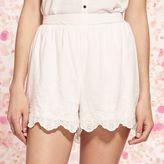 Lauren Conrad Women's Scalloped Soft Shorts