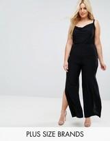 Club L Plus Wide Leg Pant With Side Splits