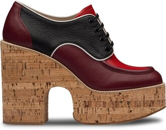 Miu Miu Lace-Up Platform Shoes