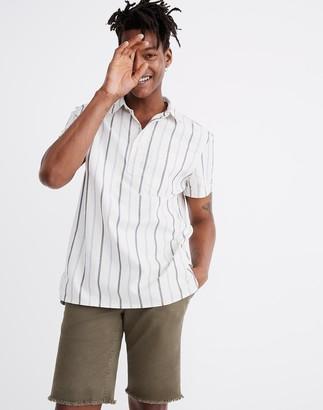 Madewell Short-Sleeve Pullover Workshirt in Montpellier Stripe