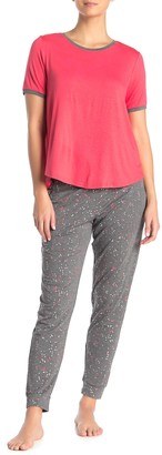 DKNY Allover Print Drawstring Sleep Pants