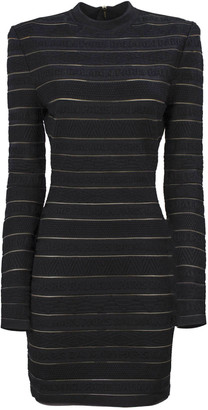 Balmain Short Black Knit Dress