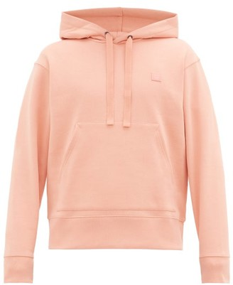 Acne Studios Ferris Face Cotton Hooded Sweatshirt - Pink