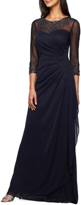 Alex Evenings Embellished Chiffon Gown