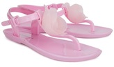 Kate Mack Biscotti Pink Rose Jelly Sandals