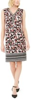 JM Collection Printed Beaded Sleeveless Dress, Created for Macy's