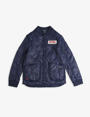 Ralph Lauren Navy logo patch quilted shell jacket 8-16 years