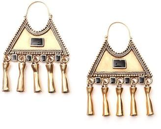 Saint Laurent Triangle Charm Earrings