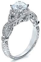 JeenJewels Pleasing Halo Diamond Engagement ring 1.00 Carat Round Cut Diamond on 10k White Gold 1.00 Carat Round Cut Diamond on 10k White G