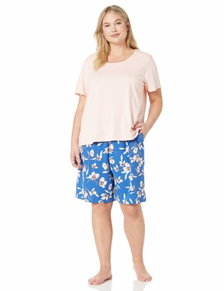 Karen Neuburger Women's Petite Top and Bottom Pajama Set Pj with Sweat Wicking Technology