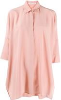 Agnona loose-fit silk shirt
