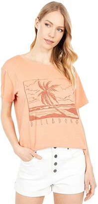 Billabong Beach Side Short Sleeve Tee (Sunburnt) Women's Clothing