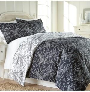 SouthShore Fine Linens Reversible Down Alternative Floral Comforter and Sham Set Bedding