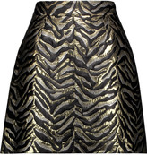 Roberto Cavalli Metallic brocade mini skirt