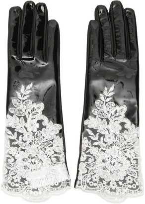 Alessandra Rich Lace Detail Gloves