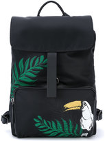 Zanellato printed leather trim backpack