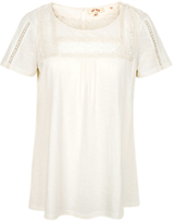 Fat Face Meera Lace Top, White