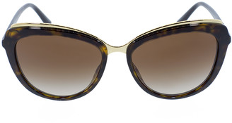 Dolce & Gabbana Havana Cat Eye Sunglasses