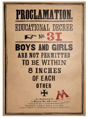 3.1 Phillip Lim Harry Potter Proclamation No. Minalima Poster