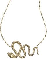 KC Designs Gold and Diamond Snake Pendant Necklace