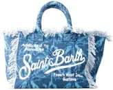 MC2 Saint Barth St.barth Big Canvas Blue Beach Bag