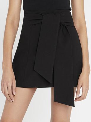 Alice + Olivia Riva Mini Skirt With Tie