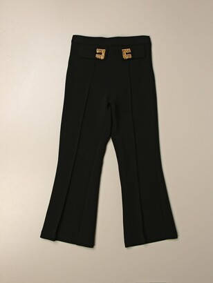Elisabetta Franchi Trumpet Trousers With Fringed Logo
