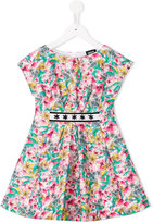 Armani Junior floral print dress - kids - Cotton/Polyester - 4 yrs
