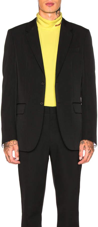 Calvin Klein Wool Gabardine Two Button Jacket
