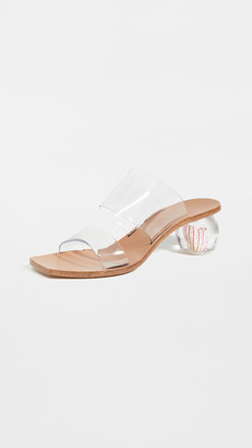 Cult Gaia Jila Flower Heel Sandals