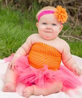 Orange & Hot Pink Tutu Set - Toddler