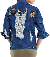 GB Patched Distressed Denim Jacket