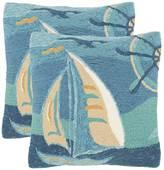 Safavieh 2-piece Seascape Outdoor Throw Pillow Set