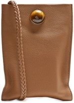The Row Medicine embellished leather cross-body bag