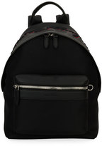 Salvatore Ferragamo Embroidered Backpack, Black/Red