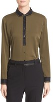 The Kooples Women's 'Peter' Stretch Silk Shirt
